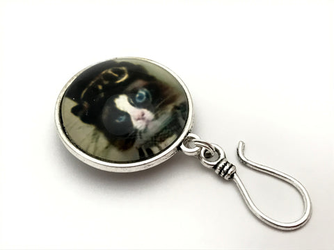 Kitty Cat Knitting Pin for Portuguese Knitting -Magnetic