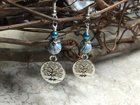 Tree of Life Earrings , jewelry - Jill's Beaded Knit Bits, Jill's Beaded Knit Bits  - 2