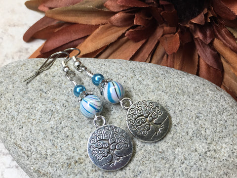 Tree of Life Earrings , jewelry - Jill's Beaded Knit Bits, Jill's Beaded Knit Bits  - 1