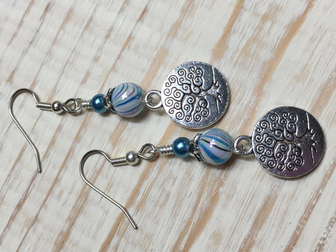 Tree of Life Earrings , jewelry - Jill's Beaded Knit Bits, Jill's Beaded Knit Bits  - 7