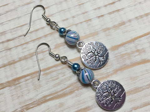 Tree of Life Earrings , jewelry - Jill's Beaded Knit Bits, Jill's Beaded Knit Bits  - 8