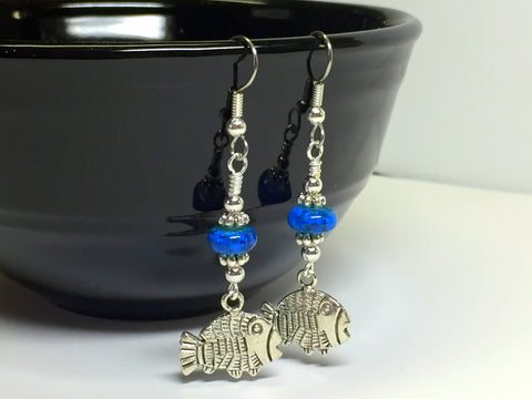 Tropical Fish Wire Dangle Earrings