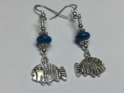 Tropical Fish Wire Dangle Earrings , jewelry - Jill's Beaded Knit Bits, Jill's Beaded Knit Bits  - 6