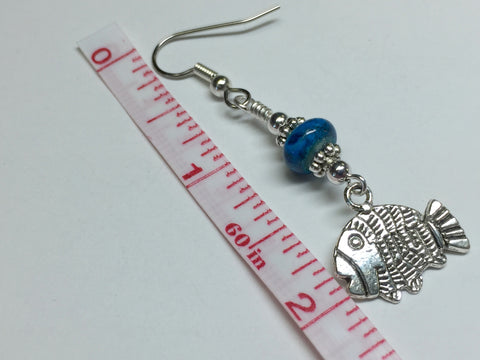 Tropical Fish Wire Dangle Earrings , jewelry - Jill's Beaded Knit Bits, Jill's Beaded Knit Bits  - 4