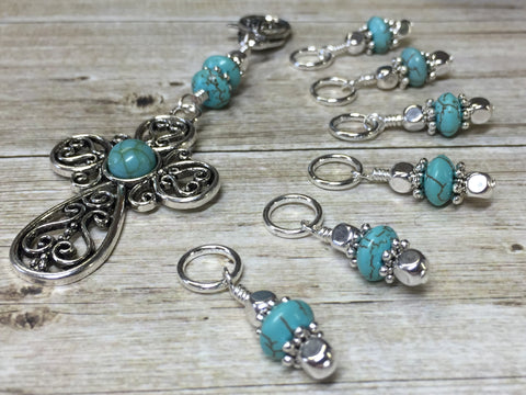 Turquoise Cross Stitch Marker Set with Snag Free Markers