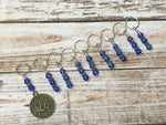 Zodiac Sign Stitch Marker Set Virgo , Stitch Markers - Jill's Beaded Knit Bits, Jill's Beaded Knit Bits  - 2