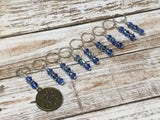 Zodiac Sign Stitch Marker Set Virgo , Stitch Markers - Jill's Beaded Knit Bits, Jill's Beaded Knit Bits  - 4
