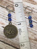 Zodiac Sign Stitch Marker Set Virgo , Stitch Markers - Jill's Beaded Knit Bits, Jill's Beaded Knit Bits  - 5