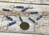 Zodiac Sign Stitch Marker Set Virgo , Stitch Markers - Jill's Beaded Knit Bits, Jill's Beaded Knit Bits  - 1