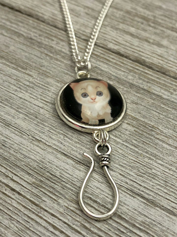 Fluffy Kitten Portuguese Knitting Necklace