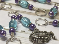 Wine In A Basket Stitch Marker Set , Stitch Markers - Jill's Beaded Knit Bits, Jill's Beaded Knit Bits  - 1