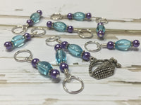 Wine In A Basket Stitch Marker Set , Stitch Markers - Jill's Beaded Knit Bits, Jill's Beaded Knit Bits  - 3