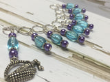 Wine In A Basket Stitch Marker Set , Stitch Markers - Jill's Beaded Knit Bits, Jill's Beaded Knit Bits  - 4