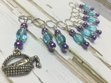 Wine In A Basket Stitch Marker Set , Stitch Markers - Jill's Beaded Knit Bits, Jill's Beaded Knit Bits  - 5