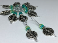 Silver Vines Wire Loop Stitch Marker Set for Knitters , Stitch Markers - Jill's Beaded Knit Bits, Jill's Beaded Knit Bits  - 8