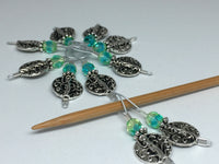 Silver Vines Wire Loop Stitch Marker Set for Knitters , Stitch Markers - Jill's Beaded Knit Bits, Jill's Beaded Knit Bits  - 7