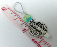 Silver Vines Wire Loop Stitch Marker Set for Knitters , Stitch Markers - Jill's Beaded Knit Bits, Jill's Beaded Knit Bits  - 4