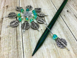 Silver Vines Wire Loop Stitch Marker Set for Knitters , Stitch Markers - Jill's Beaded Knit Bits, Jill's Beaded Knit Bits  - 5