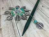 Silver Vines Wire Loop Stitch Marker Set for Knitters , Stitch Markers - Jill's Beaded Knit Bits, Jill's Beaded Knit Bits  - 11
