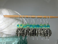 Silver Vines Wire Loop Stitch Marker Set for Knitters , Stitch Markers - Jill's Beaded Knit Bits, Jill's Beaded Knit Bits  - 3
