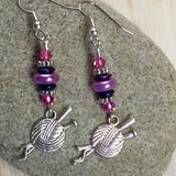 Ball of Yarn Dangle Earrings , jewelry - Jill's Beaded Knit Bits, Jill's Beaded Knit Bits  - 5