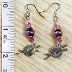 Ball of Yarn Dangle Earrings , jewelry - Jill's Beaded Knit Bits, Jill's Beaded Knit Bits  - 6