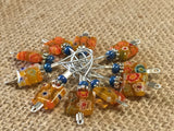 Yellow with Flowers Wire Loop Stitch Markers , Stitch Markers - Jill's Beaded Knit Bits, Jill's Beaded Knit Bits  - 3