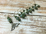 Snag Free Angel Wing Stitch Marker Set- Green 9 Pieces , Stitch Markers - Jill's Beaded Knit Bits, Jill's Beaded Knit Bits  - 4