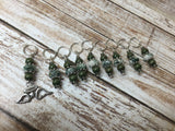 Snag Free Angel Wing Stitch Marker Set- Green 9 Pieces , Stitch Markers - Jill's Beaded Knit Bits, Jill's Beaded Knit Bits  - 5