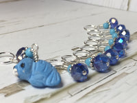 Baby Seal Stitch Marker Set- 9pc. Blue , Stitch Markers - Jill's Beaded Knit Bits, Jill's Beaded Knit Bits  - 6