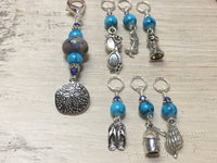 Beach Themed Stitch Marker Set and Matching Clip Holder , Stitch Markers - Jill's Beaded Knit Bits, Jill's Beaded Knit Bits  - 4