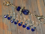 Blue Angel Knitting Bag Lanyard & Stitch Markers , Stitch Markers - Jill's Beaded Knit Bits, Jill's Beaded Knit Bits  - 1