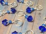 Blue Angel Knitting Bag Lanyard & Stitch Markers , Stitch Markers - Jill's Beaded Knit Bits, Jill's Beaded Knit Bits  - 2