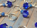Blue Angel Knitting Bag Lanyard & Stitch Markers , Stitch Markers - Jill's Beaded Knit Bits, Jill's Beaded Knit Bits  - 3