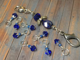 Blue Angel Knitting Bag Lanyard & Stitch Markers , Stitch Markers - Jill's Beaded Knit Bits, Jill's Beaded Knit Bits  - 8