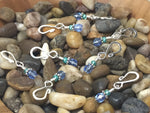 Removable Blue Stitch Markers- Shepherds Hook Style , Stitch Markers - Jill's Beaded Knit Bits, Jill's Beaded Knit Bits  - 2