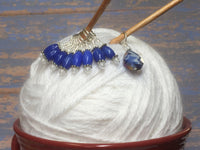 Crystal-Teardrop-Stitch-Marker-Set-Blue , Stitch Markers - Jill's Beaded Knit Bits, Jill's Beaded Knit Bits  - 5