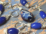 Crystal-Teardrop-Stitch-Marker-Set-Blue , Stitch Markers - Jill's Beaded Knit Bits, Jill's Beaded Knit Bits  - 7