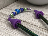 Jewel Tone Knitting Needle Point Protector Jewelry