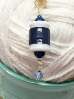 Hanging Barrel Style Row Counter-Blue , Stitch Markers - Jill's Beaded Knit Bits, Jill's Beaded Knit Bits  - 5