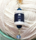 Hanging Barrel Style Row Counter-Blue , Stitch Markers - Jill's Beaded Knit Bits, Jill's Beaded Knit Bits  - 1