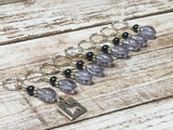 9 Piece Star Stitch Marker Set- Snag Free Knitting- Blue , Stitch Markers - Jill's Beaded Knit Bits, Jill's Beaded Knit Bits  - 4