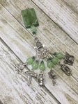 Camping Stitch Marker Set With Green Beaded Clip Holder , Stitch Markers - Jill's Beaded Knit Bits, Jill's Beaded Knit Bits  - 3