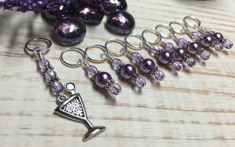 Cocktail Stitch Marker Set , Stitch Markers - Jill's Beaded Knit Bits, Jill's Beaded Knit Bits  - 4