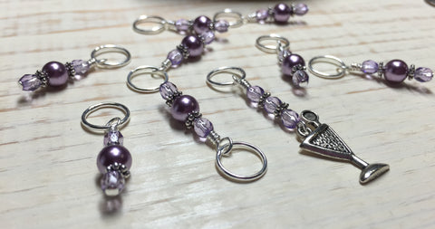 Cocktail Stitch Marker Set , Stitch Markers - Jill's Beaded Knit Bits, Jill's Beaded Knit Bits  - 6