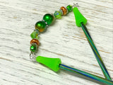 Green Copper Beaded Stitch Holder Point Protector
