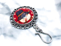 Country Snowman Knitting Pin for Portuguese Knitting- Magnetic
