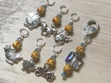 Farmyard Stitch Marker Set- Includes Beaded Stitch Marker Holder , Stitch Markers - Jill's Beaded Knit Bits, Jill's Beaded Knit Bits  - 2