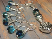 Filigree Heart Stitch Marker Holder-Teal , Stitch Markers - Jill's Beaded Knit Bits, Jill's Beaded Knit Bits  - 3