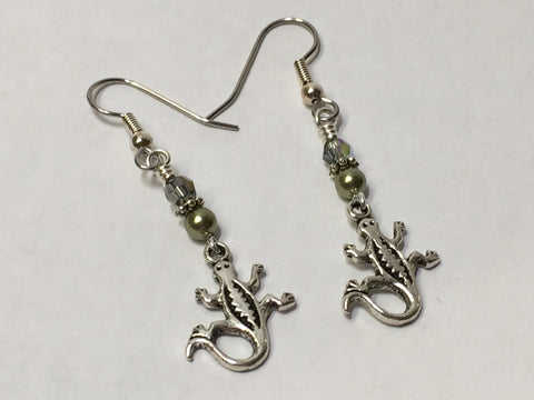 Gecko Beaded Dangle Earrings , jewelry - Jill's Beaded Knit Bits, Jill's Beaded Knit Bits  - 3